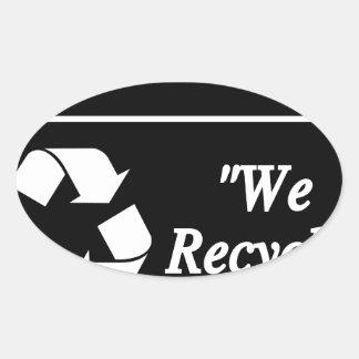 Sticker Ovale Bac de recyclage