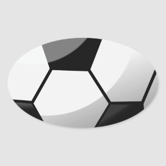 Sticker Ovale Ballon de football