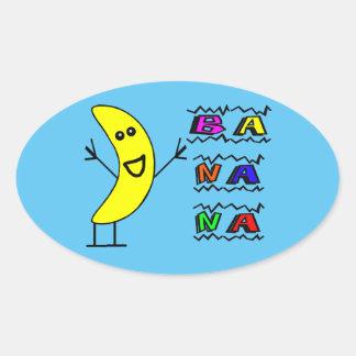 Sticker Ovale Banane heureuse