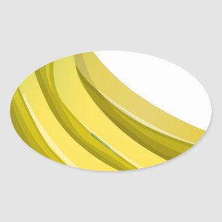 Sticker Ovale Bananes
