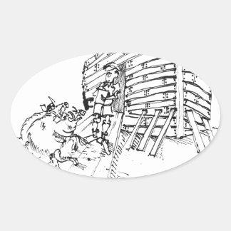 Sticker Ovale Bande dessinée 1035 de rapport