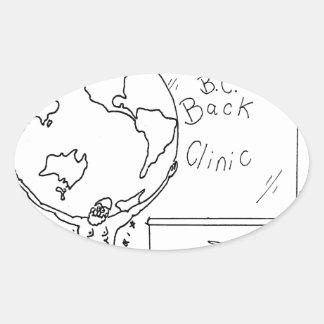 Sticker Ovale Bande dessinée 6475 de chiroprakteur