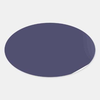 Sticker Ovale Bande dessinée d'aubergine