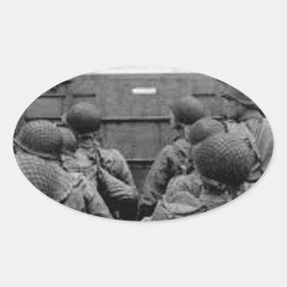 Sticker Ovale Bataille de la Normandie
