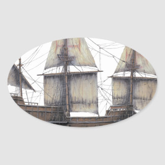 Sticker Ovale Bateau d'or de 1578 Hinde