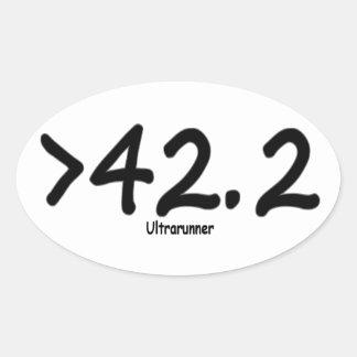Sticker Ovale Bâton de plus considérablement que 42,2
