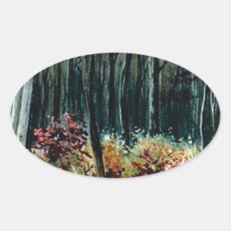 Sticker Ovale beauté dans les bois
