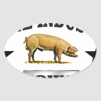 Sticker Ovale bébé d'industrie de porcs