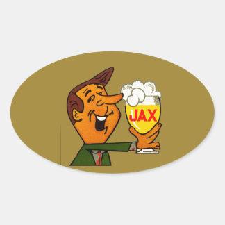 Sticker Ovale Bière de Jax
