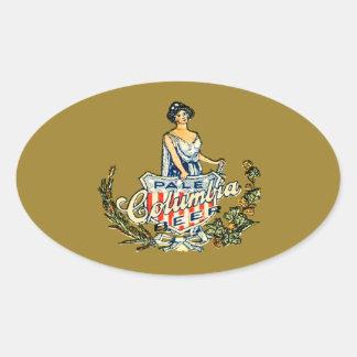 Sticker Ovale Bière pâle de Colombie