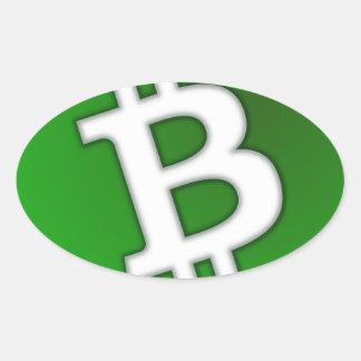 Sticker Ovale Bitcoin