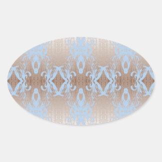 Sticker Ovale bleu
