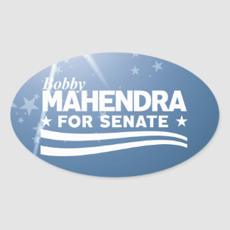 Sticker Ovale Bobby Mahendra pour le sénat