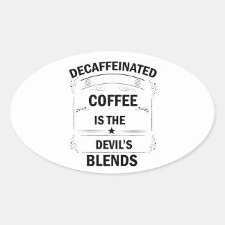 Sticker Ovale boisson drôle de café