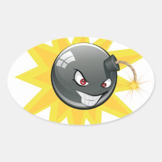 Sticker Ovale Bombe ronde mauvaise