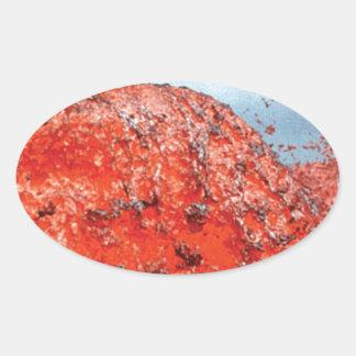 Sticker Ovale bosse d'écoulement de lave