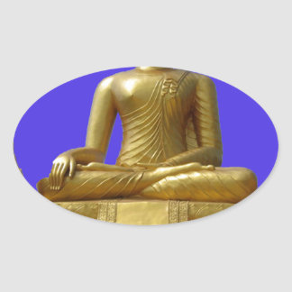 Sticker Ovale Bouddha