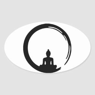 Sticker Ovale Bouddha silent