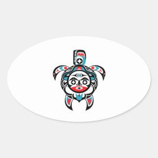 Sticker Ovale Boussole tribale