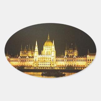Sticker Ovale Budapest la nuit