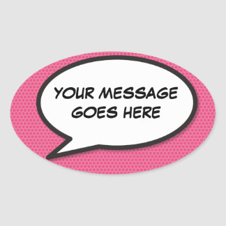 Sticker Ovale Bulle personnalisée de la parole d'art de bruit de