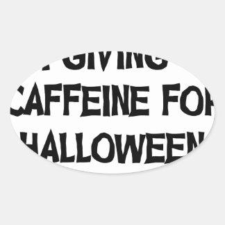 Sticker Ovale Caféine pour Halloween
