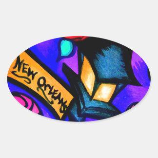 Sticker Ovale Cajun Flava