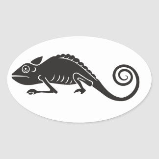 Sticker Ovale caméléon simple