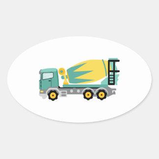 Sticker Ovale Camion concret
