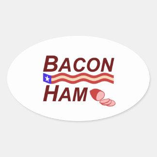 Sticker Ovale Campagne de jambon de lard