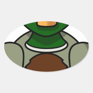 Sticker Ovale canard