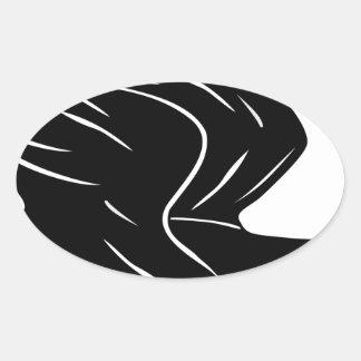 Sticker Ovale Canard de vol