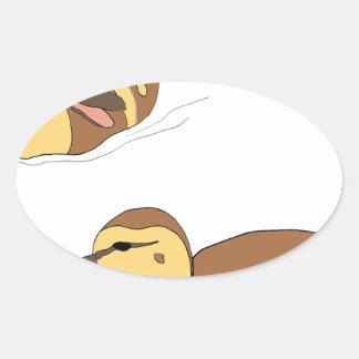 Sticker Ovale canards de ferme
