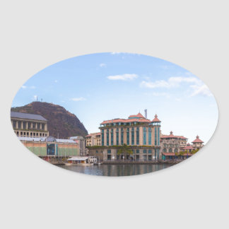 Sticker Ovale capitale caudan de bord de mer de Port-Louis le de