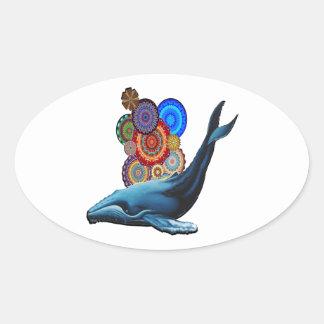 Sticker Ovale Célébrez la vie