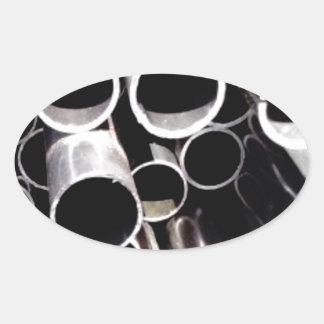 Sticker Ovale cercles empilés d'acier