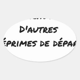 STICKER OVALE CERTAINS TOUCHENT UN PARACHUTE DORÉ, D'AUTRES