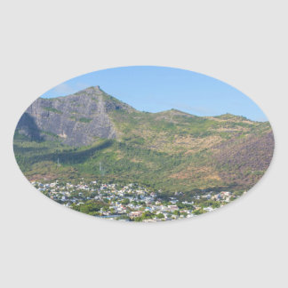 Sticker Ovale Champ de Mars à Port-Louis la capitale de Mauriti