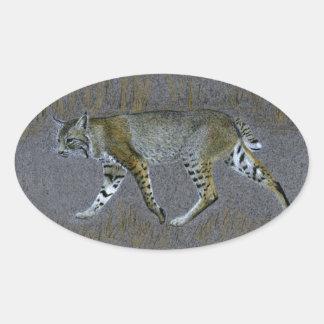 Sticker Ovale Chat sauvage