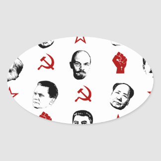 Sticker Ovale Chefs communistes