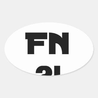 Sticker Ovale Chéri FN ?! - Jeux de Mots - Francois Ville