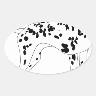 Sticker Ovale Chien de Dalmation
