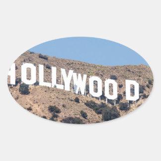 Sticker Ovale Ciel de la Californie de montagnes de visibilité