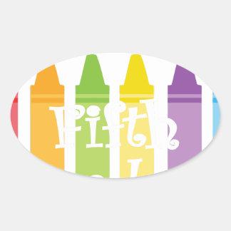 Sticker Ovale Cinquième professeur de catégorie