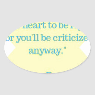 Sticker Ovale Citation d'Eleanor Roosevelt