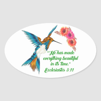 Sticker Ovale Citations de colibri