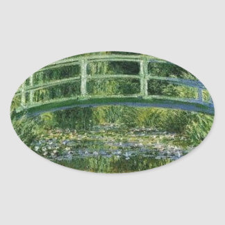 Sticker Ovale Claude Monet - pont japonais