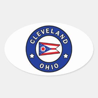 Sticker Ovale Cleveland Ohio