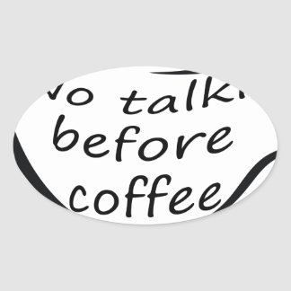 Sticker Ovale coffee22