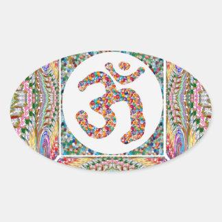 Sticker Ovale Collection de bijou d'incantation de l'OM